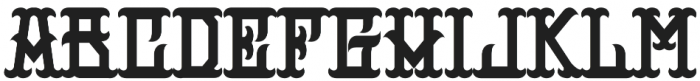 H74 Outlaw otf (400) Font LOWERCASE