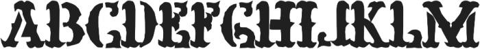 H74 Prison Bitch otf (400) Font UPPERCASE