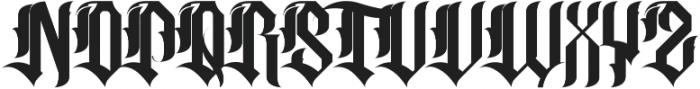 H74 Sacred ttf (400) Font UPPERCASE