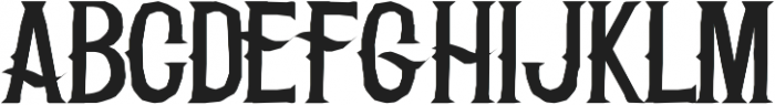 H74 The Clap otf (400) Font UPPERCASE