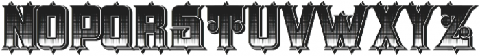 H74 The Order UltraBlack otf (900) Font UPPERCASE