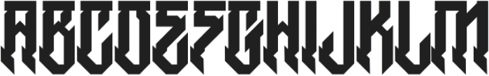 H74 Witches otf (400) Font UPPERCASE