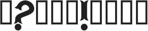 H74_Warriors Black ttf (900) Font OTHER CHARS