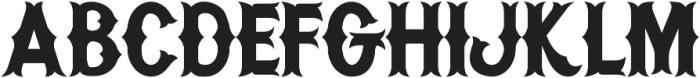 H74_Warriors Black ttf (900) Font UPPERCASE