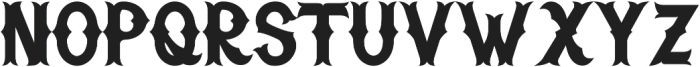 H74_Warriors Black ttf (900) Font LOWERCASE