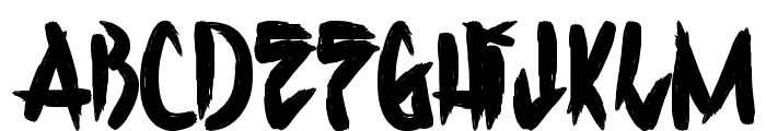 H74 Corpse Paint Font UPPERCASE