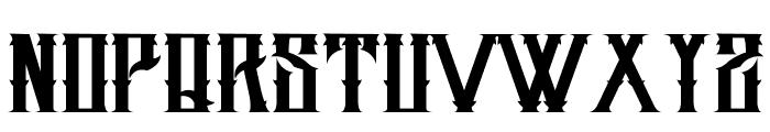 H74 Dirty Sanchez Font UPPERCASE