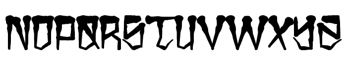 H74 East Zombie High Font LOWERCASE