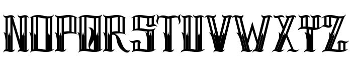 H74 Pistola Font UPPERCASE