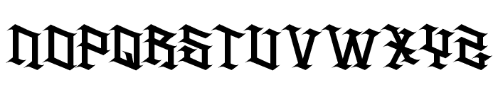 H74 Spitfire Font UPPERCASE