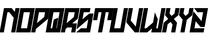 H74 The Golden Dawn Italic Font LOWERCASE