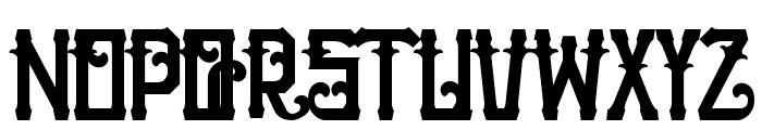 H74 The Nomad Black Font UPPERCASE