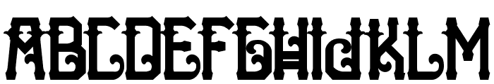 H74 The Nomad Black Font LOWERCASE