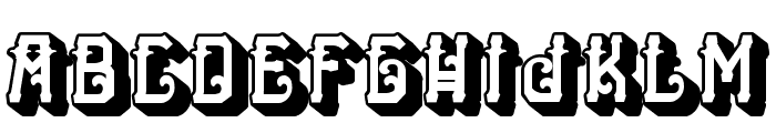 H74 The Nomad Heavy Font LOWERCASE