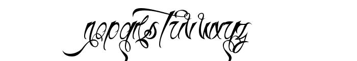 H74 Thunder Script Font UPPERCASE
