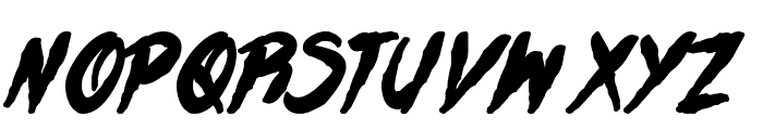 H74 Zombie Attack Font UPPERCASE