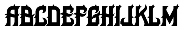 H74 Her Majesty Regular Font LOWERCASE