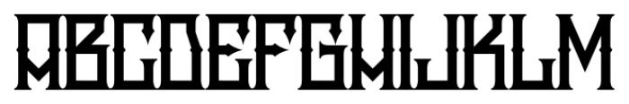 H74 Snake Whiskey Regular Font UPPERCASE