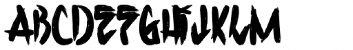H74 Corpse Paint Bold Font UPPERCASE