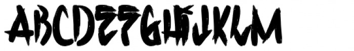 H74 Corpse Paint Bold Font LOWERCASE