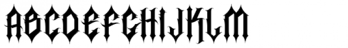 H74 Corpse Font UPPERCASE