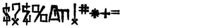 H74 Viper Black Bold Font OTHER CHARS