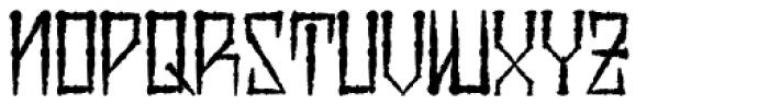 H74 Viper Black Thin Font LOWERCASE