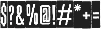 HAINE_BG otf (400) Font OTHER CHARS