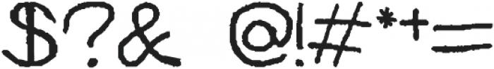 HAND Regular otf (400) Font OTHER CHARS
