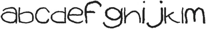 HAND Regular otf (400) Font LOWERCASE