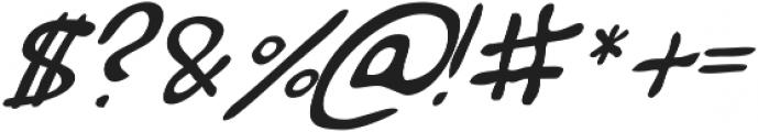 Haakke Slanted ttf (400) Font OTHER CHARS