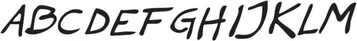 Haakke Slanted ttf (400) Font UPPERCASE