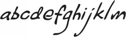 Haakke Slanted ttf (400) Font LOWERCASE