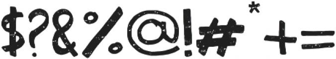 Habitat Press otf (400) Font OTHER CHARS