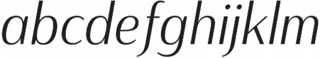 Haboro Contrast Cond Light It otf (300) Font LOWERCASE