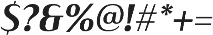 Haboro Contrast Norm Bold It otf (700) Font OTHER CHARS