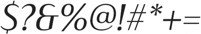 Haboro Contrast Norm Regular It otf (400) Font OTHER CHARS