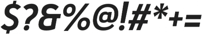 Haboro Sans Cond Bold Italic otf (700) Font OTHER CHARS