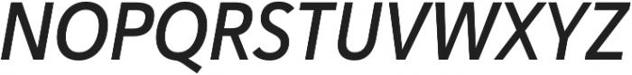 Haboro Sans Cond Demi Italic otf (400) Font UPPERCASE
