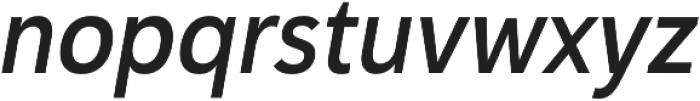 Haboro Sans Cond Demi Italic otf (400) Font LOWERCASE