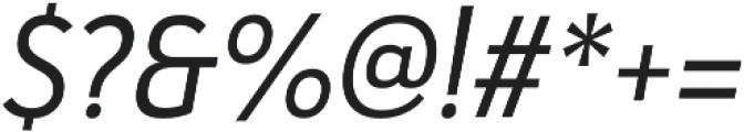 Haboro Sans Cond Regular Italic otf (400) Font OTHER CHARS