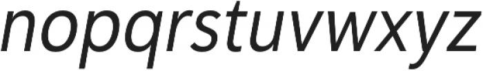 Haboro Sans Cond Regular Italic otf (400) Font LOWERCASE