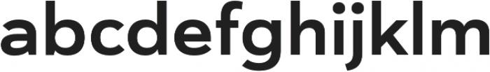 Haboro Sans Ext Bold otf (700) Font LOWERCASE