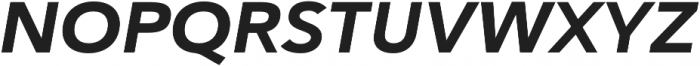 Haboro Sans Ext ExBold Italic otf (700) Font UPPERCASE