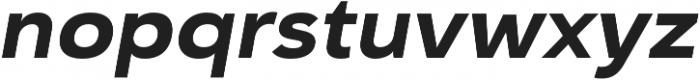 Haboro Sans Ext ExBold Italic otf (700) Font LOWERCASE