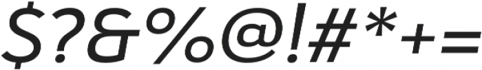 Haboro Sans Ext Medium Italic otf (500) Font OTHER CHARS