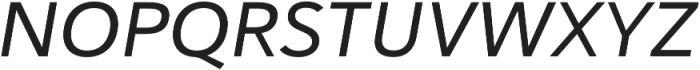 Haboro Sans Ext Medium Italic otf (500) Font UPPERCASE