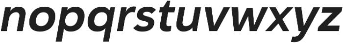 Haboro Sans Norm Bold Italic otf (700) Font LOWERCASE