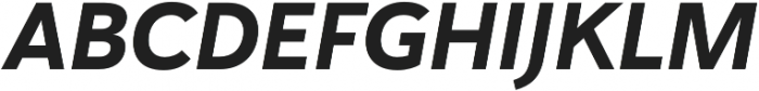 Haboro Sans Norm ExBold Italic otf (700) Font UPPERCASE