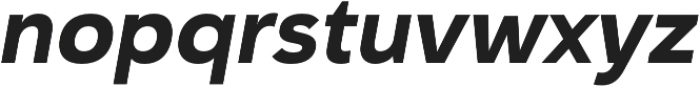 Haboro Sans Norm ExBold Italic otf (700) Font LOWERCASE